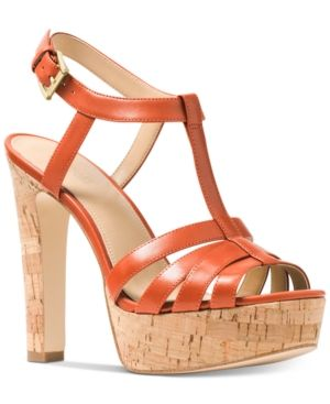 7be5cc268bc Michael Michael Kors Catalina Platform Dress Sandals - Orange 8.5M ...