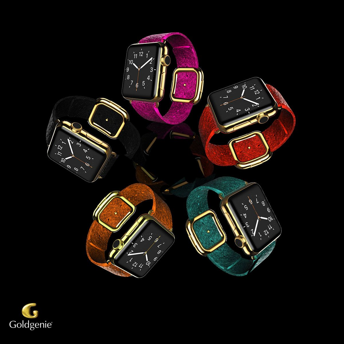 Goldgenie's 24k Gold Customised Apple Watch Collection is available to order here: http://www.goldgenie.com/24k-gold-apple-watch.php