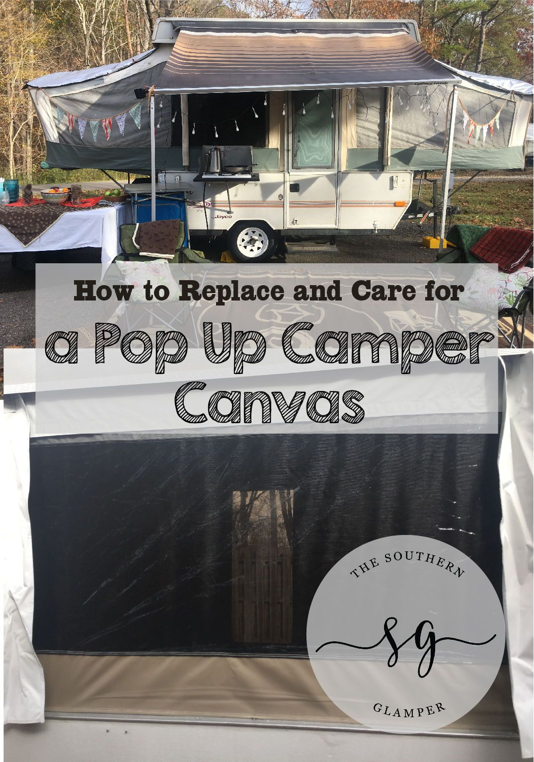 Replacing Your Pop Up Camper Canvas | Pinterest