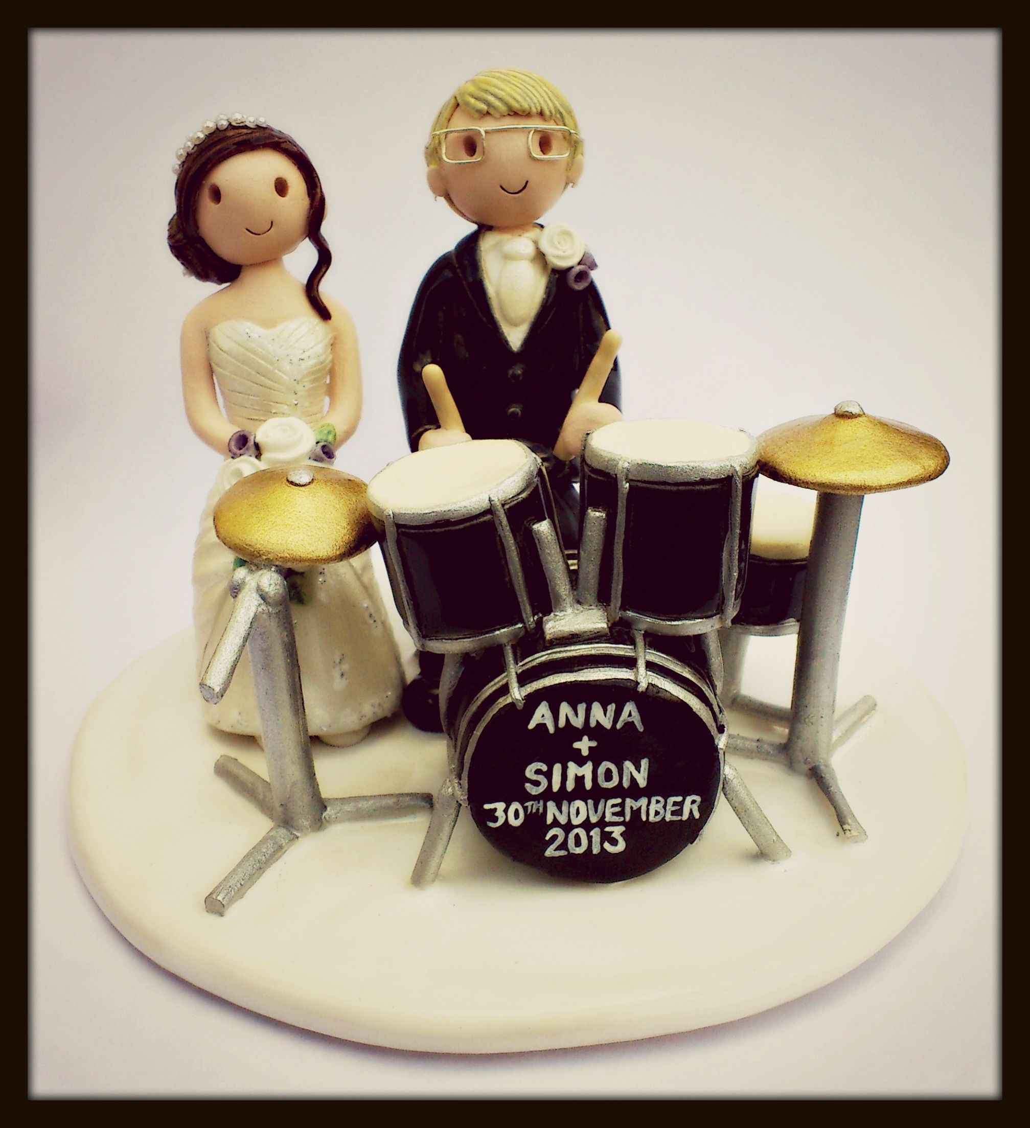 drum wedding cake toppers drum kit wedding cake topper wedding drummers drumming 13758