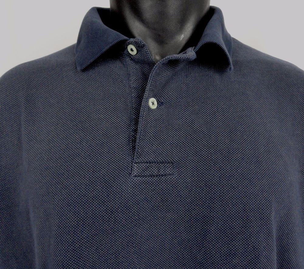 Polo Ralph Lauren Polo Shirt Large Tall Mens Blue Microdot Pattern