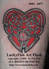 067986587 Heart's Ease Celtic Tattoo Design - In the tradition of courtly love,