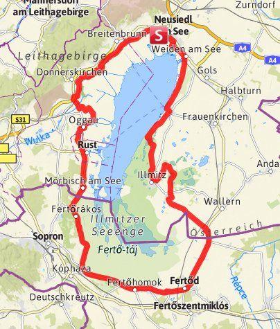 Karte Neusiedler See Radweg Radweg See Radtour