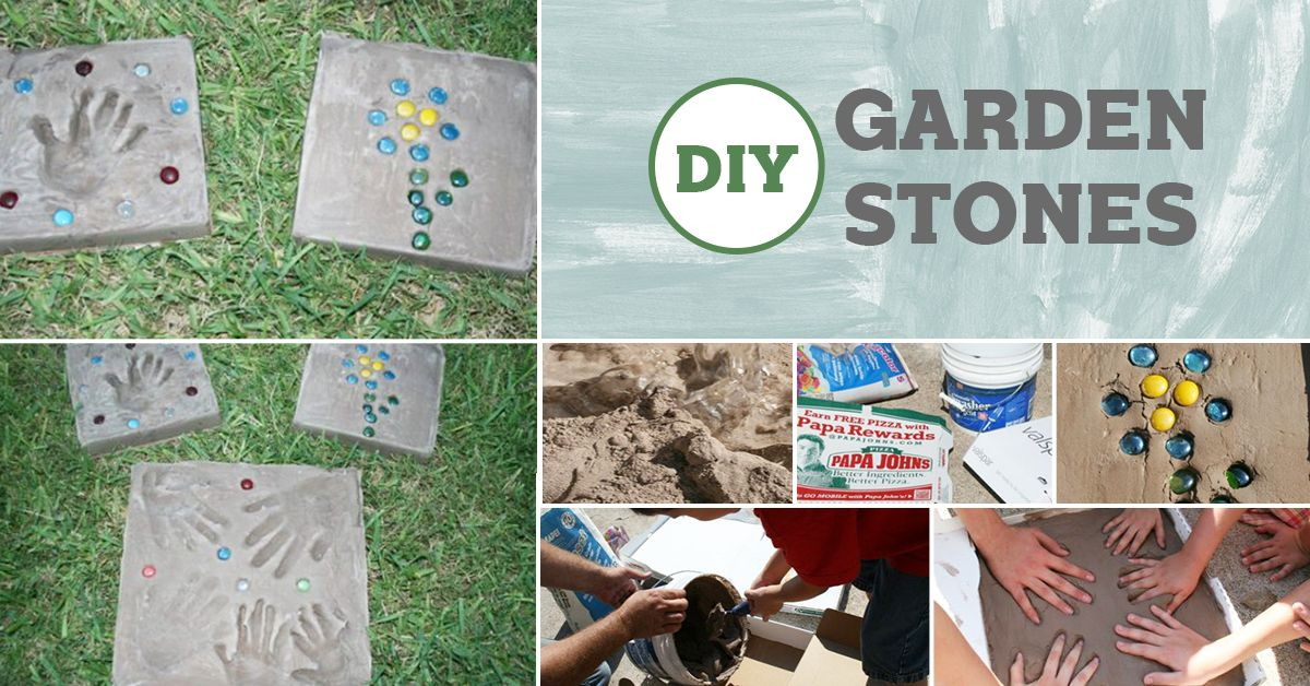 How to Make Garden Stones with Kids #bestgiftsforgrandparents