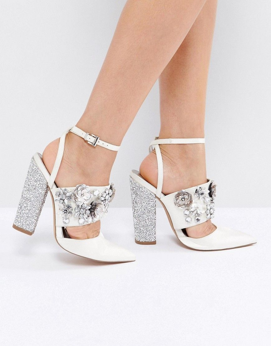 b8bd14c9483f ASOS PAPAYA Bridal Embellished Heels - Cream