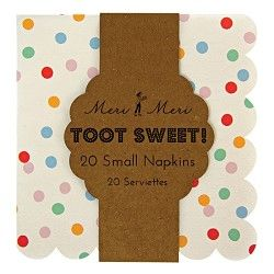 Toot Sweet Spotty Napkins - Small