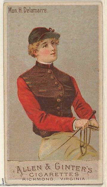 Mon. H. Delamarre, from the Racing Colors of the World series (N22a) for Allen & Ginter Cigarettes