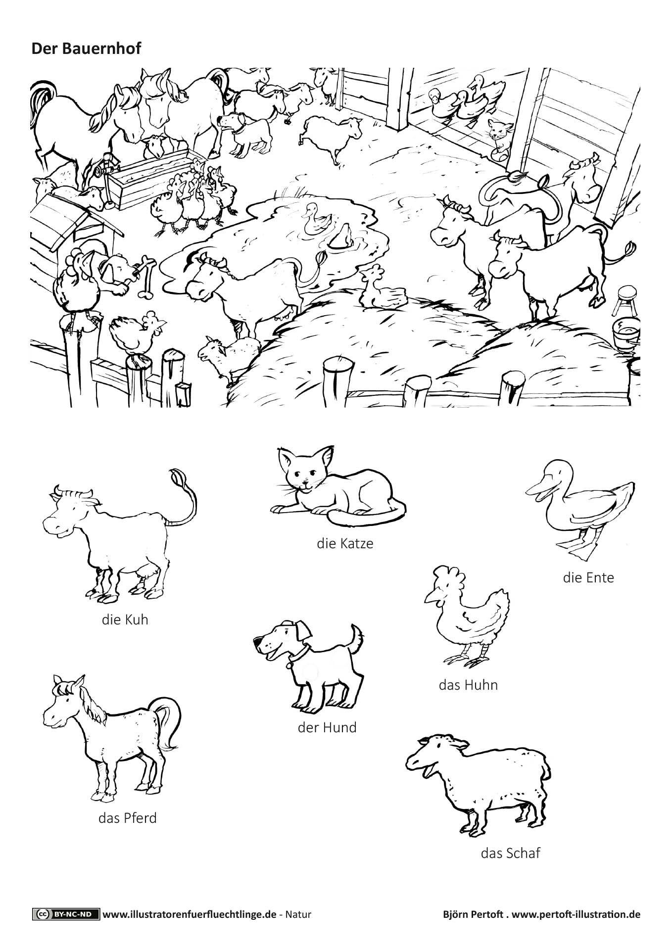 Download als PDF: Natur – Bauernhof Haustiere Nutztiere Tiere ...