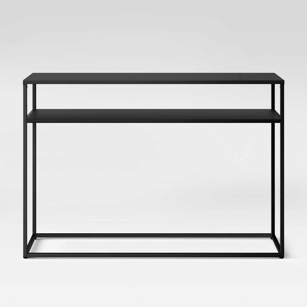 Glasgow Metal Console Table Black   Project 62