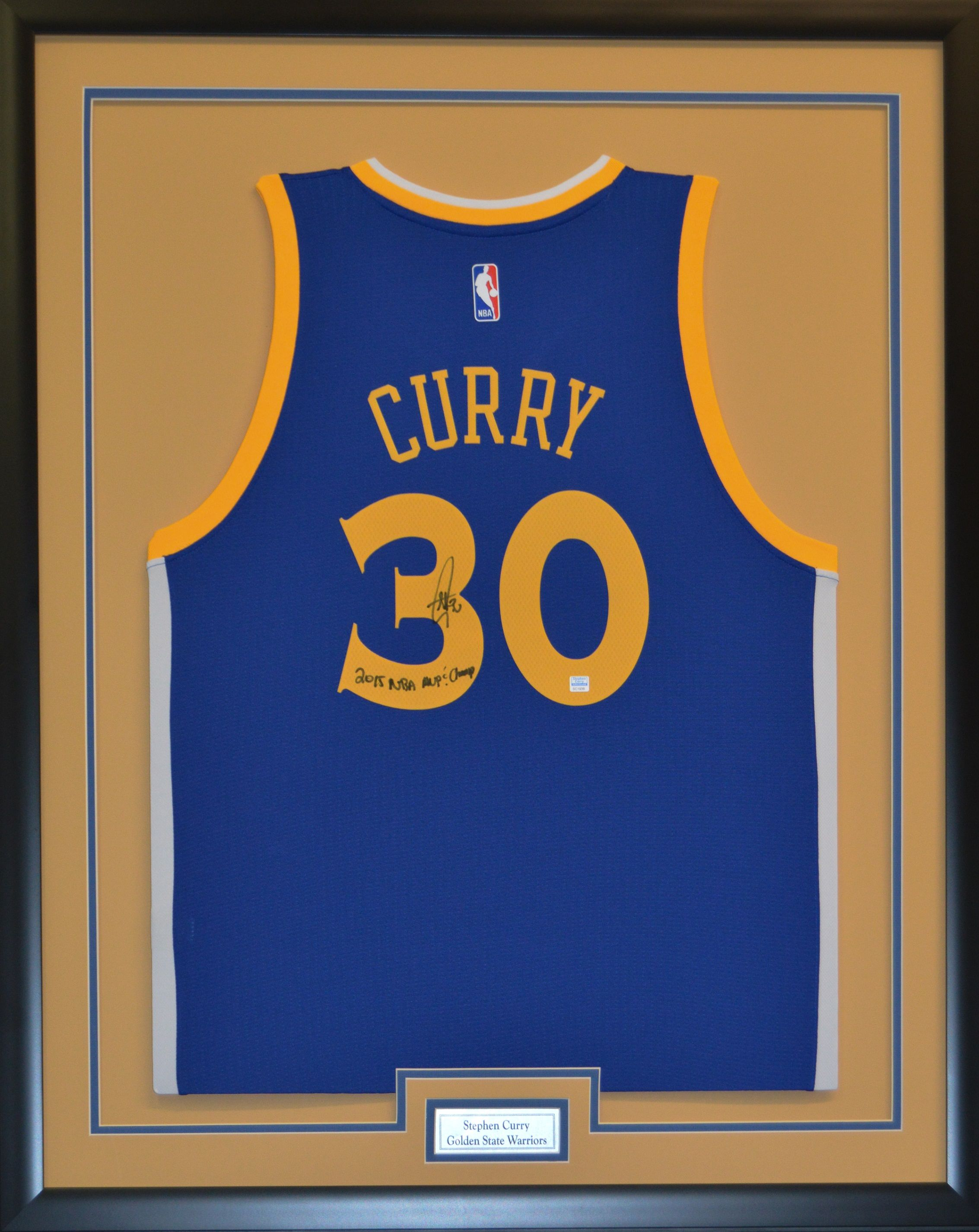 Framed Jersey of 2014 MVP StephCurry of the