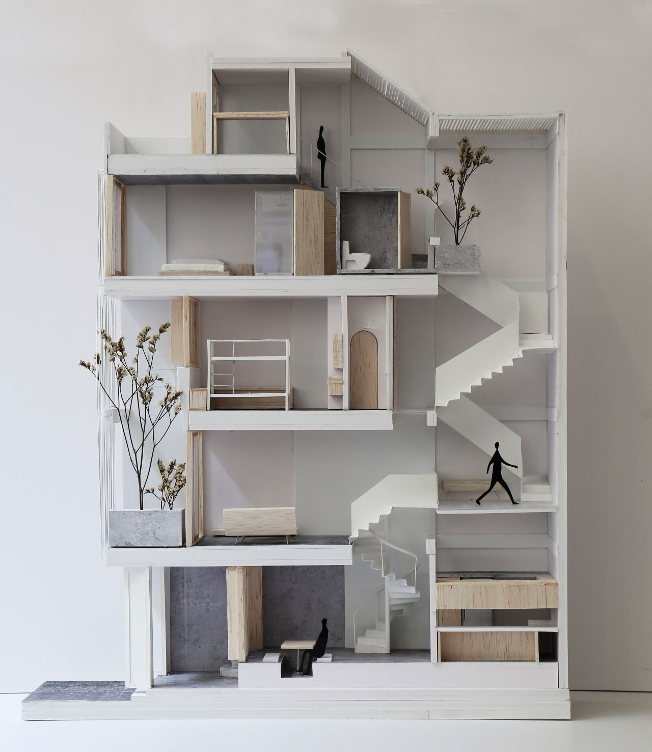 7x18 house ahl architects associates maquetas for Apartment matchmaker