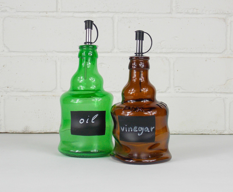 oil and vinegar bottles slumped bottles oil and vinegar set oil and vinegar cruets vinegar on kitchen organization oil and vinegar id=62504