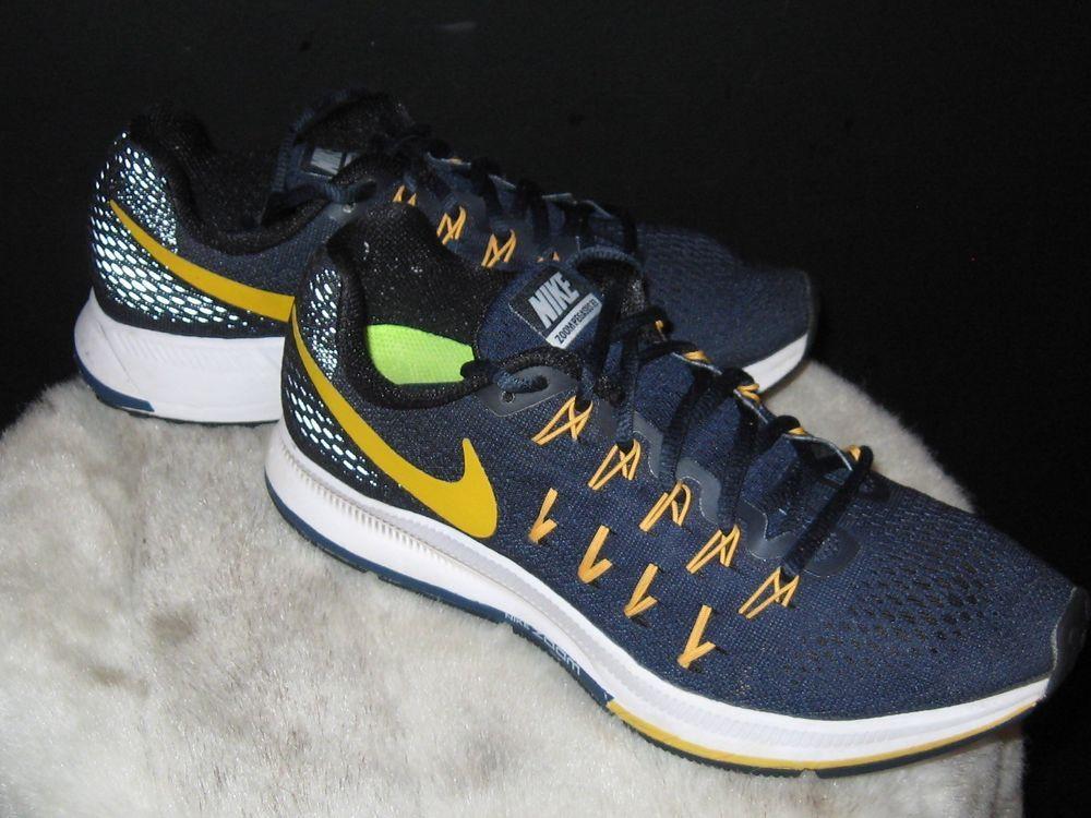 best website 15cde fcf24 Women s Nike Zoom Pegasus 33 Running Sneakers Sz 8.5 Maize Navy blue U of M   Nike