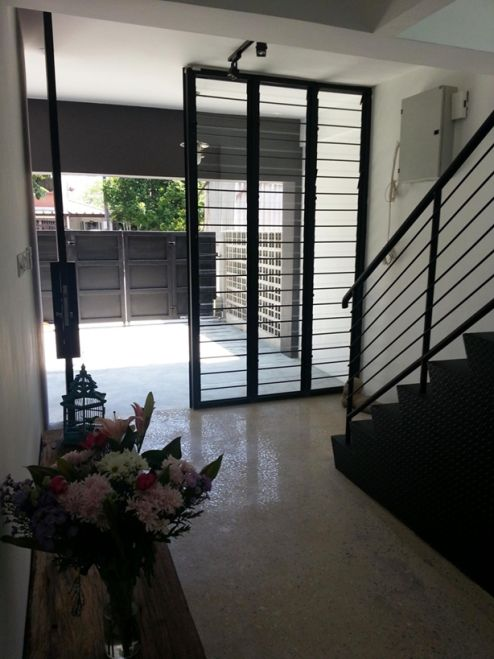 Renovated terrace house malaysia Simple terrace house entrance