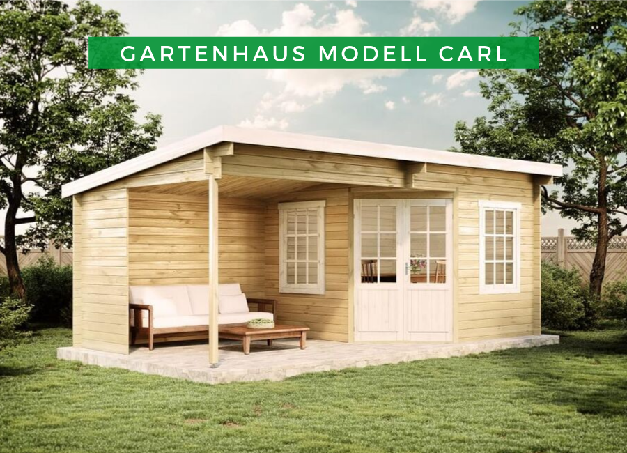 Gartenhaus Modell Carl28 Gartenhaus mit terrasse