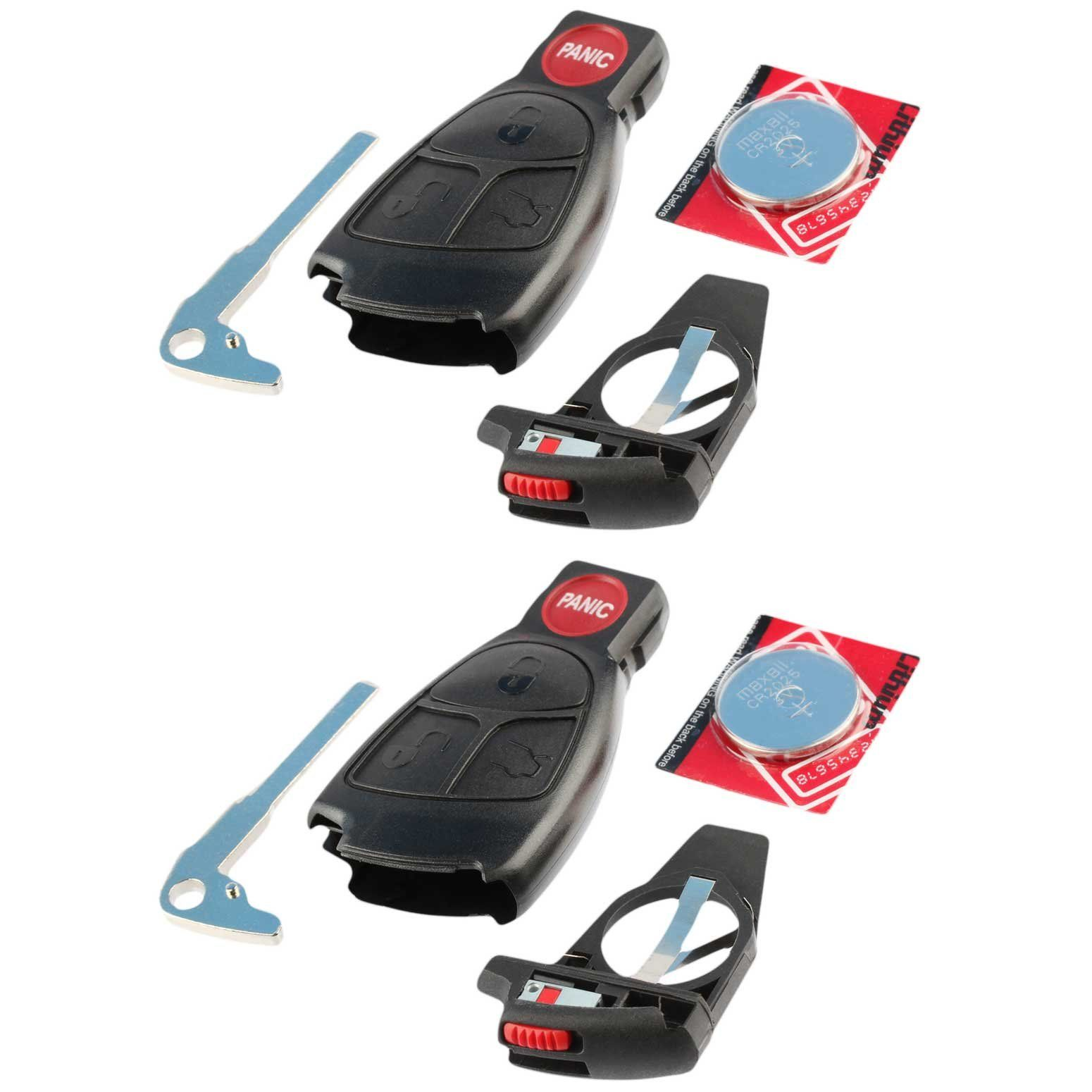 Key fob keyless entry remote shell case and pad fits