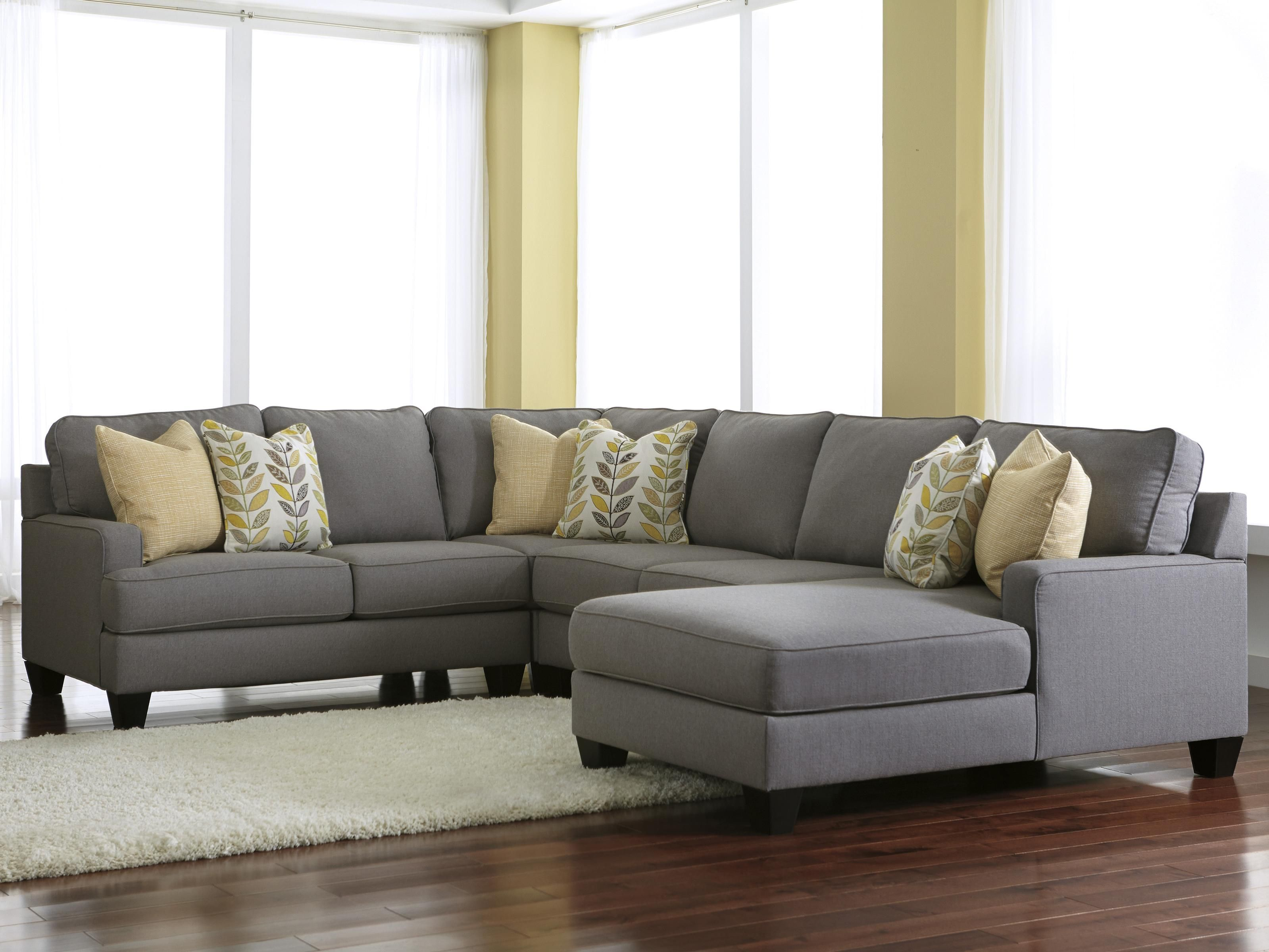 Chamberly - Alloy 4-Piece Sectional Sofa with Right Chaise by ...