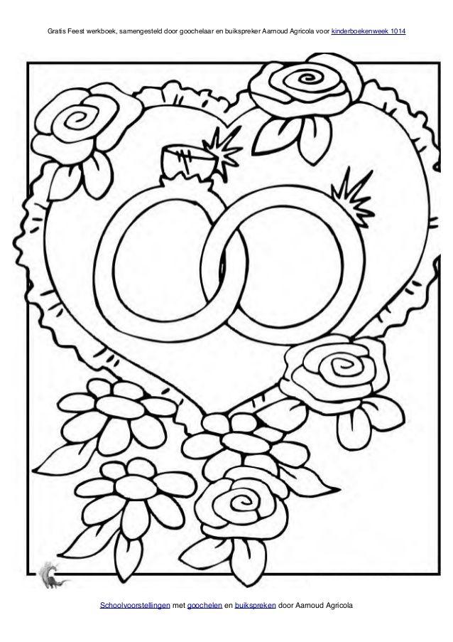 kleurplaat bruiloft kleurplaten bruiloft