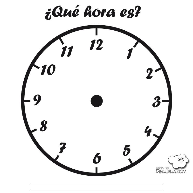 Reloj aprender las horas  Educacin  Pinterest