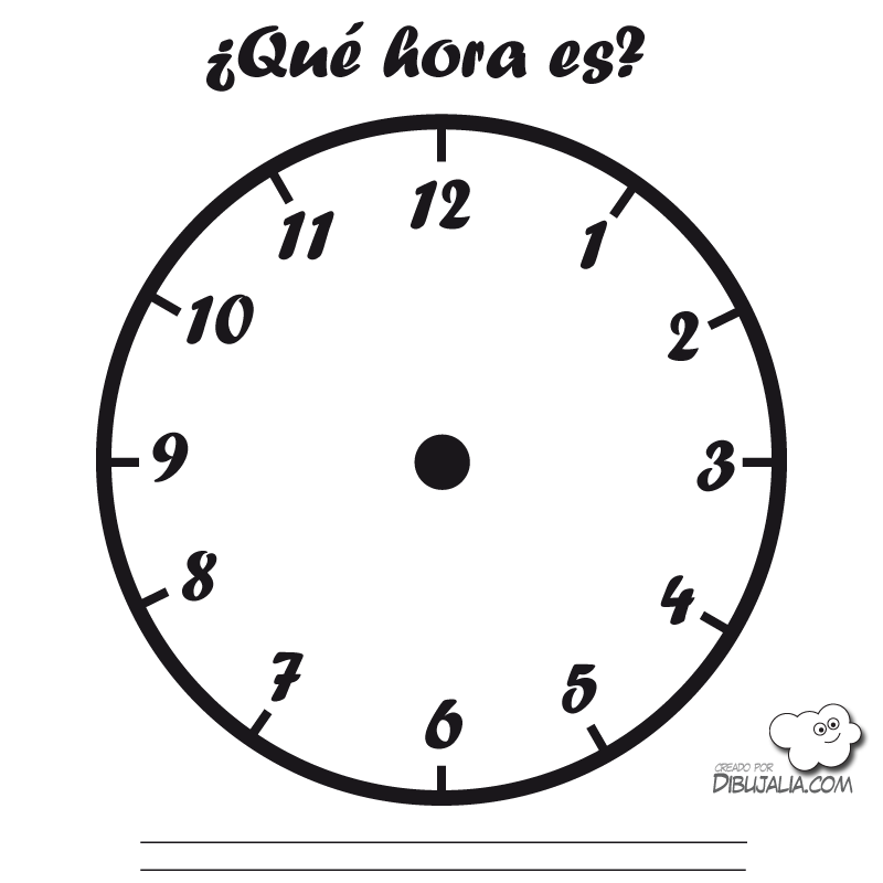 Reloj Cuadrado Clock Blank Clock Coloring Pages