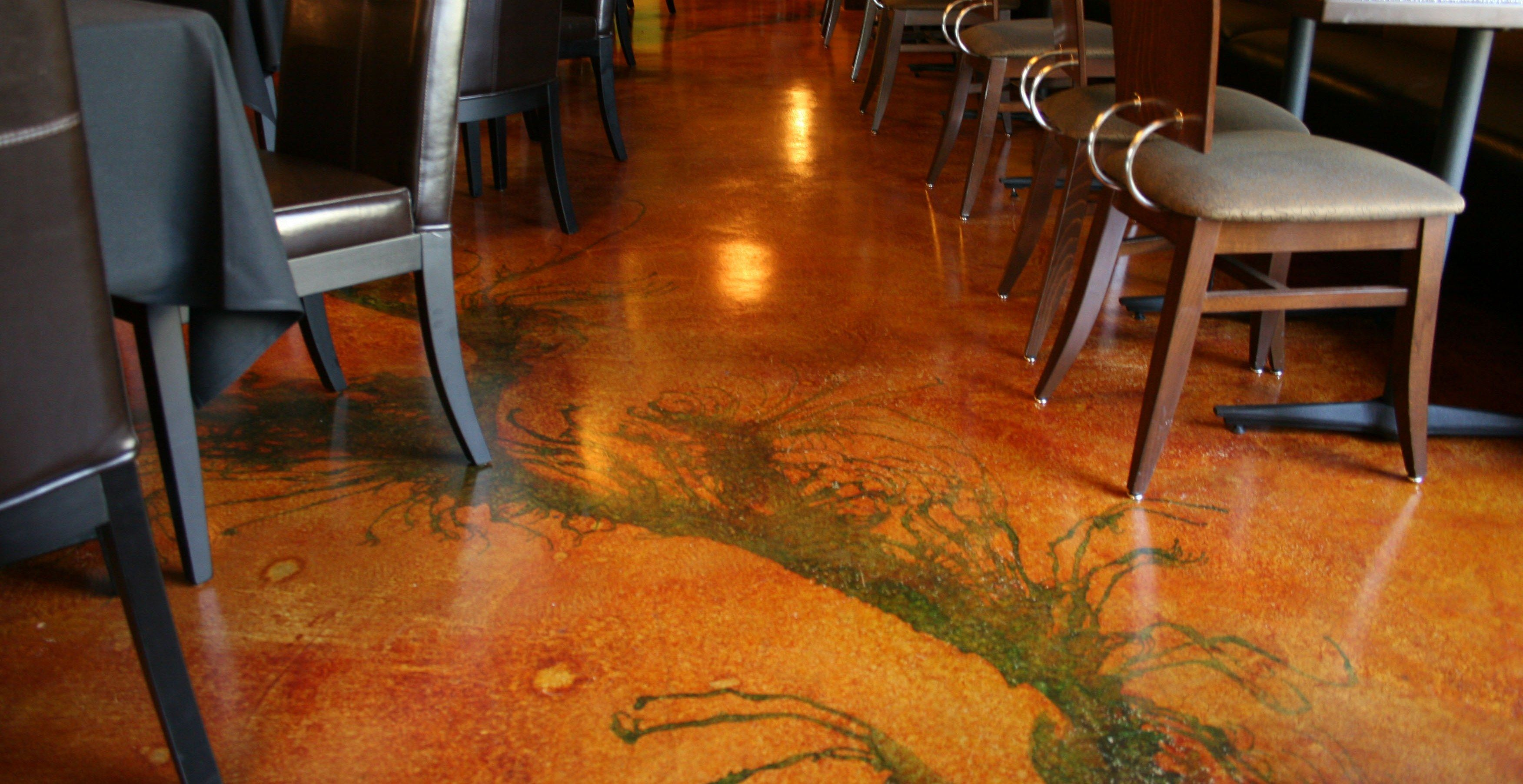 Staining Concrete Can Be A True Art Form Concrete Staining