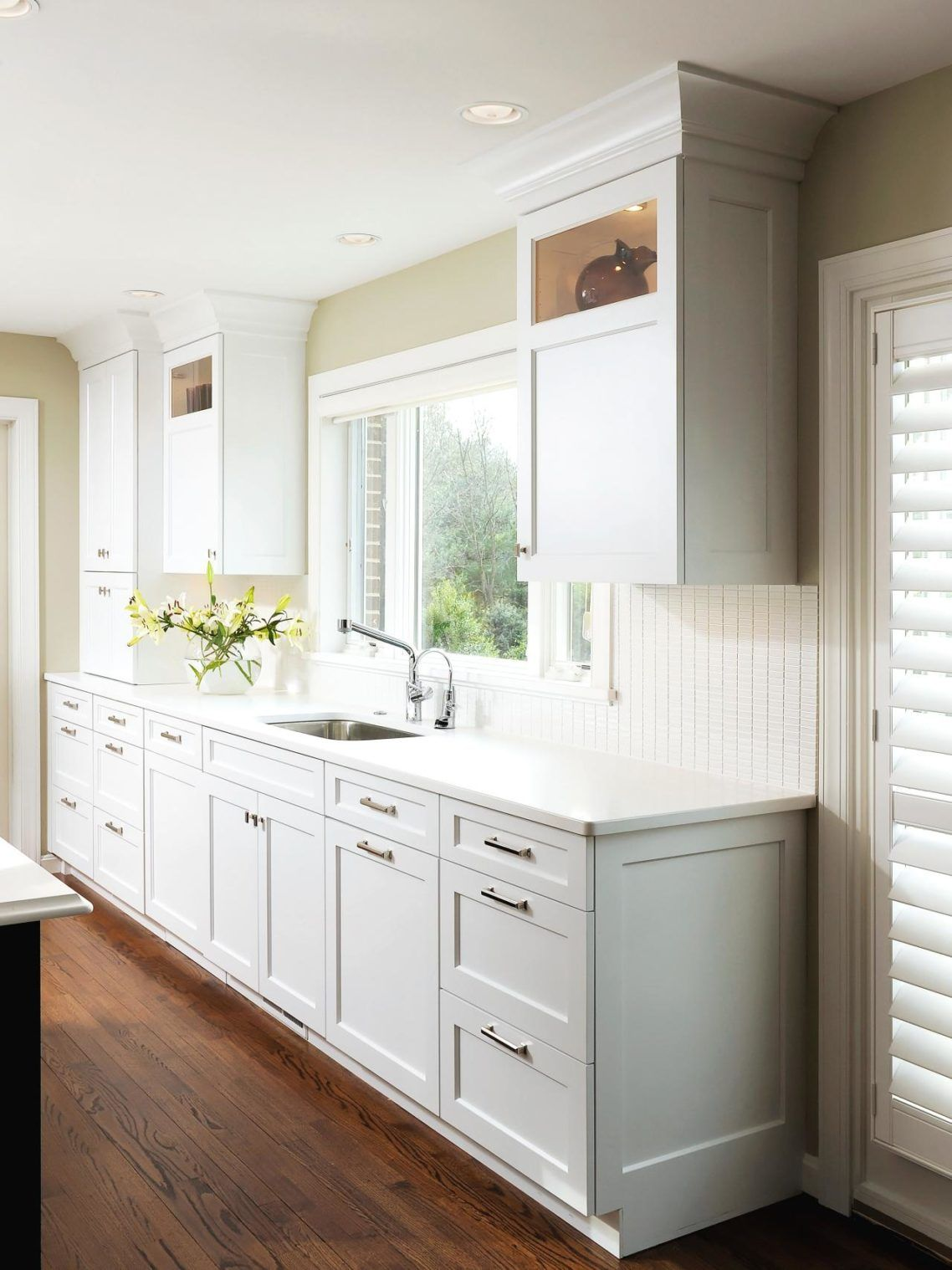 Luxury Design Home Modern Kitchen Ideas With White Wooden Kitchen Cabinets  And Tiered Storage Drawers And