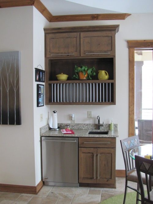 Coffee Bar Lower Cabinet Setup With Tiger Wood Wet Designs Mini Kitchen