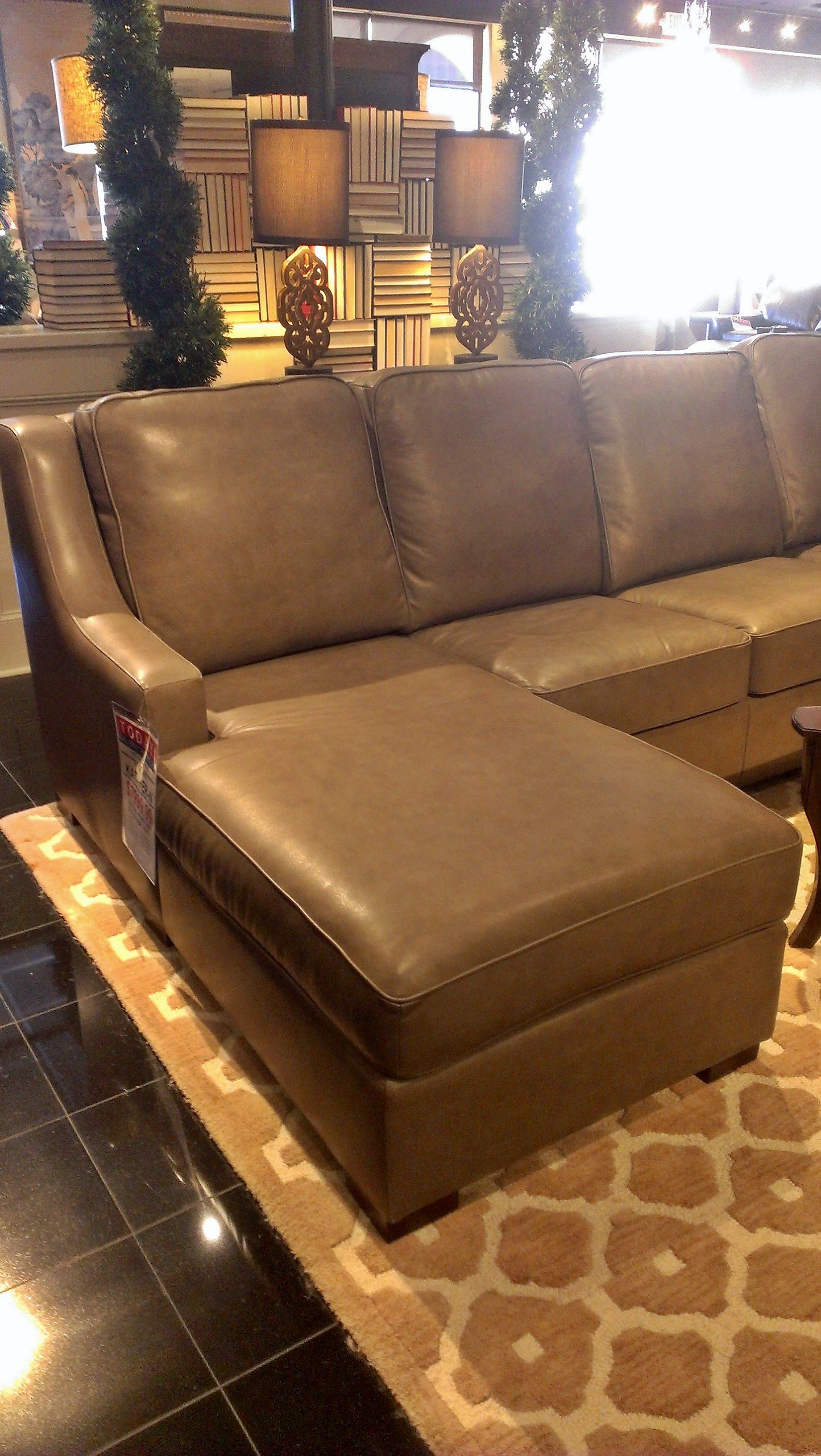 Sleek and contemporary leather sectional. | Houston, TX ...