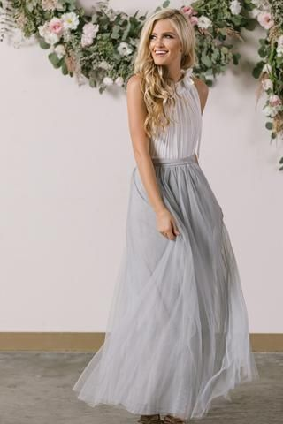 1d288f0ed Anabelle Grey Full Tulle Maxi Skirt in 2019 | What to Wear | Maxi ...