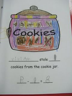 Who Stole The Cookie From The Cookie Jar Song Endearing Who Stole The Cookie From The Cookie Jar Subtraction Class Book Decorating Inspiration