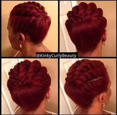 Need A Cute Protective Style? – 18 Flat Twist Updo