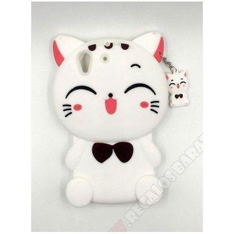 4318bad7b20 Carcasa gato para Huawei Y6 II muñeco 3D silicona en 2019 | Carcasa ...