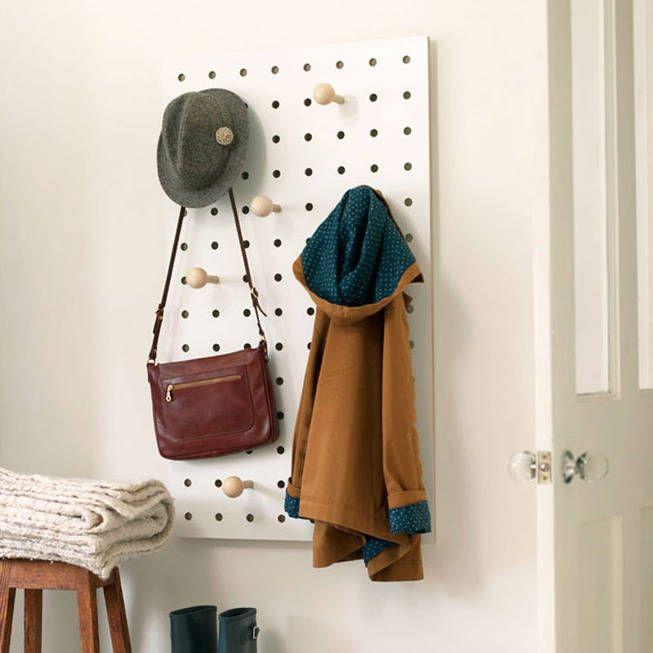 Wooden Peg Board Coat Rack From Notonthehighstreet Com