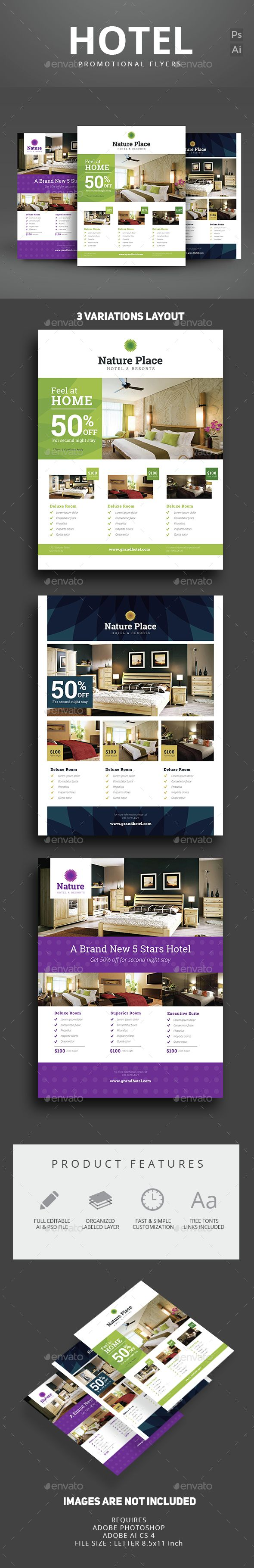 hotel flyer apartment bedrooms fonts and flyer template hotel flyer template psd vector ai here graphicriver