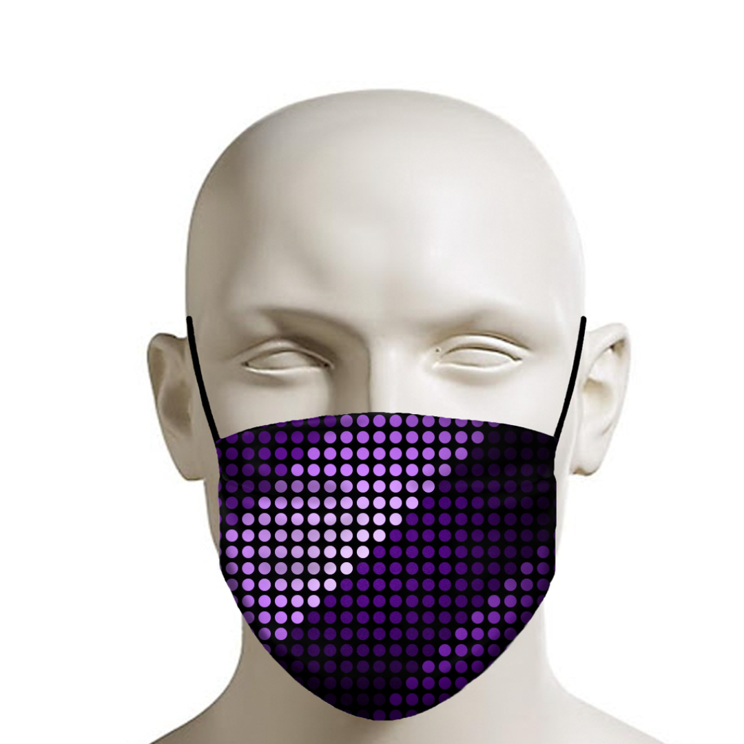 Striped Shades of Purple Face Mask in 2020 Shades of