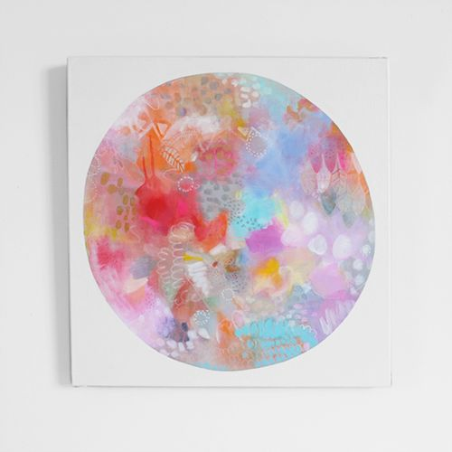 Abstract art, bright, bold and minimal.....line, pattern, colour and shape - 'LUNA SEA : CHRISTMAS BAUBLE EDITION' by Erin Flannery xx