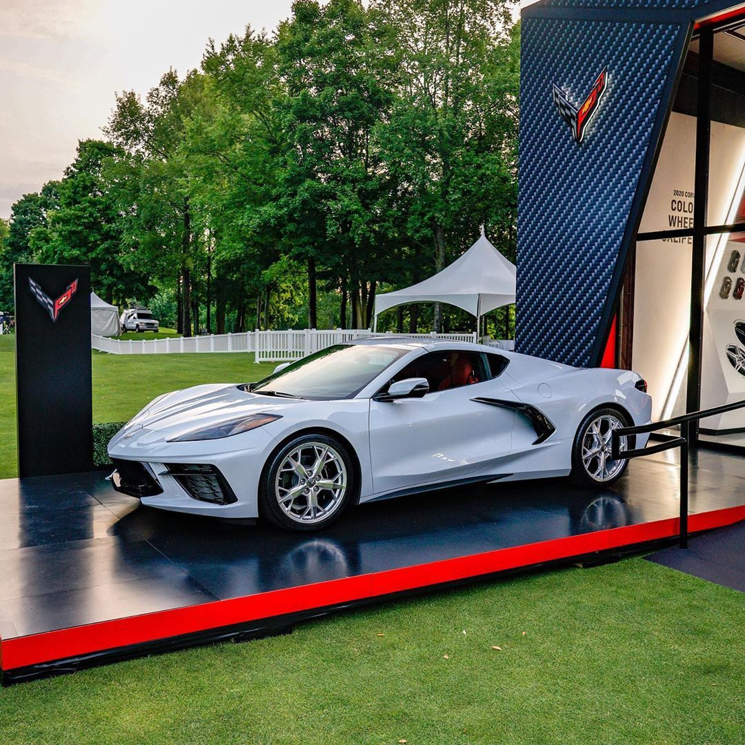 Come See The New C8 Corvette Today At The @concoursusa. It