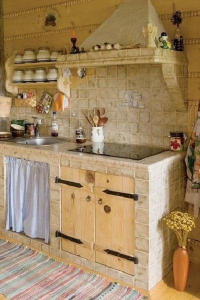 Rustikaler Country Chic Der Landhauskuche In 2020 Mit Bildern Landhauskuche Haus Kuchen Gemauerte Kuche