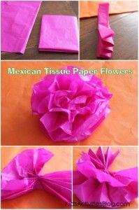 Cinco de mayo mexican paper flowers tissue paper crafts tissue cinco de mayo mexican paper flowers kids activities mightylinksfo