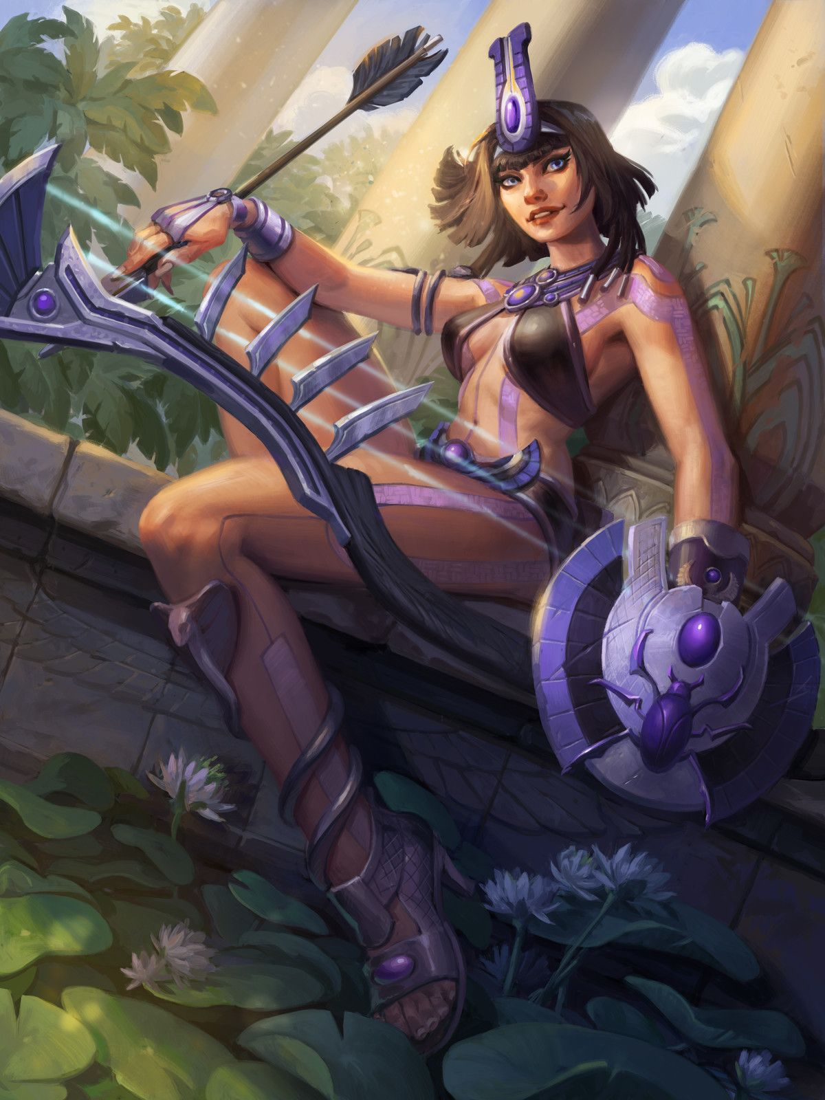 Bastet neith smite animated-23365