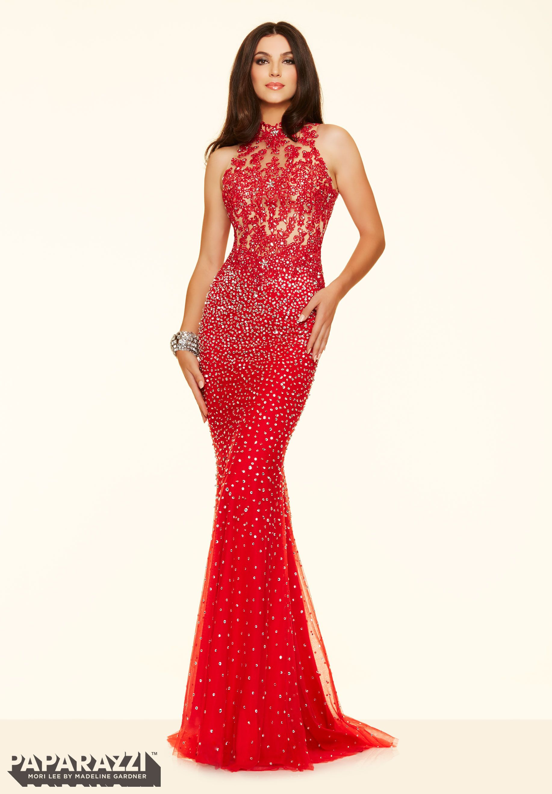 Prom dresses by paparazzi prom lace appliques and beading on soft