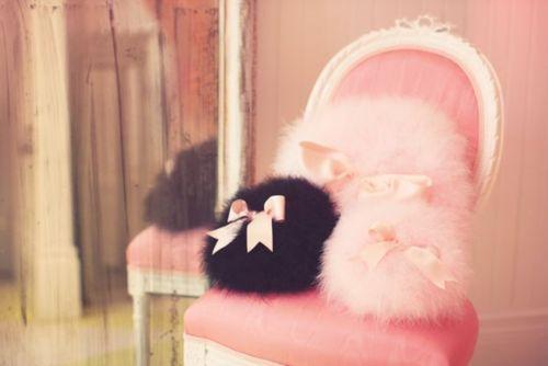 pretty pink fluffy things #cute