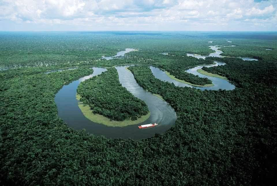 The Amazon River In South America Is The Largest River By