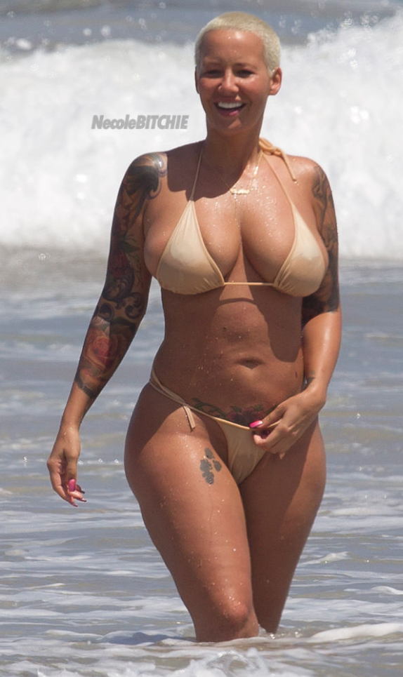 Amber Rose Nude On Beach