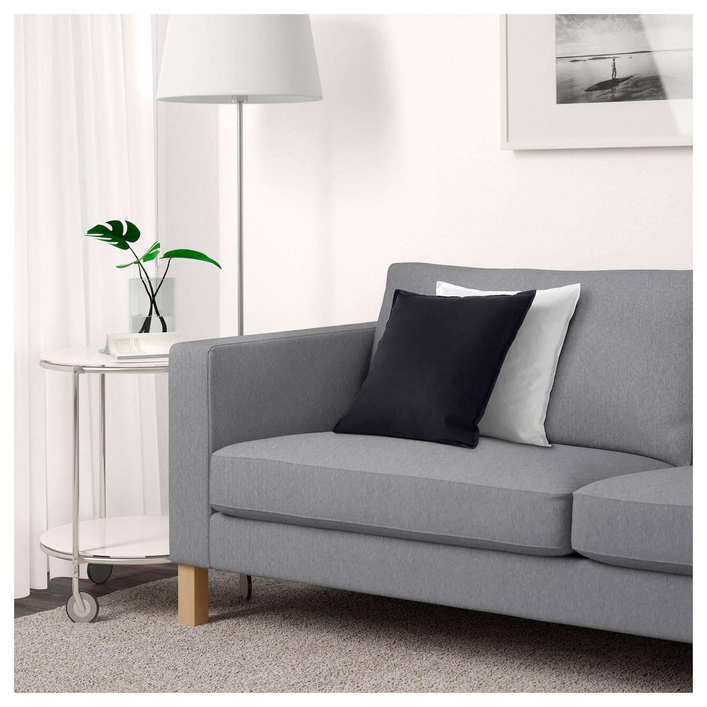 sofa karlstad knisa light gray in 2019 my home ikea sofa ikea rh pinterest com