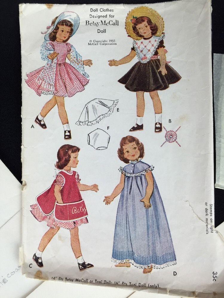 Vintage Sewing Pattern McCalls 1812 1953 14\