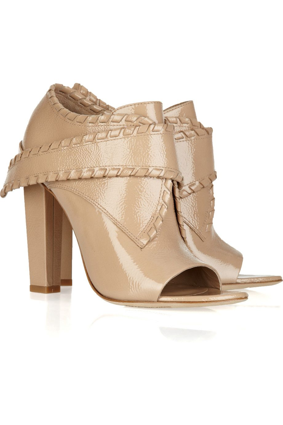 Alexander Wang  Cecilia glazed-leather ankle boots
