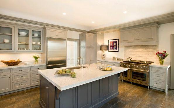 Cassia Design Stunning Gray Kitchen With Light Gray Glass