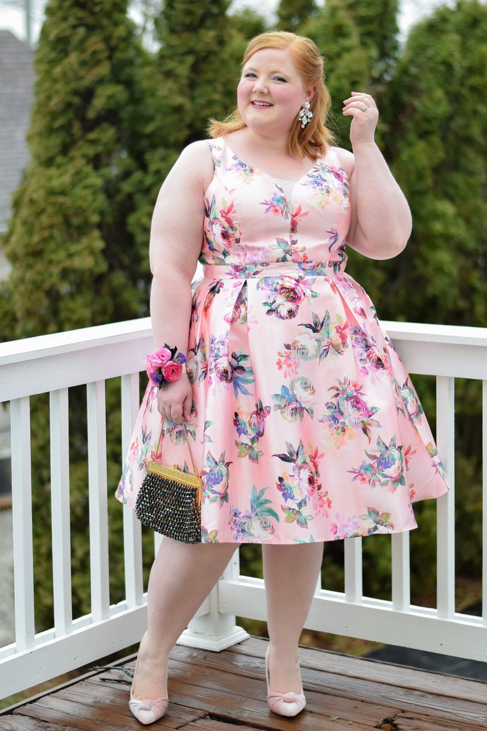 What I Wore to Promshell 2018: with City Chic\'s plus size Posey ...