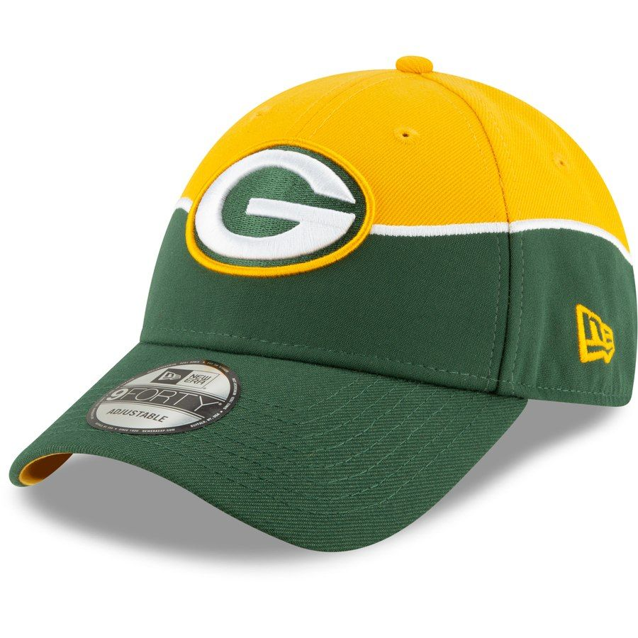 newest collection ef1a8 4bcb1 Green Bay Packers New Era 2019 NFL Draft On-Stage Official 9FORTY Adjustable  Hat – Gold, Your Price   29.99